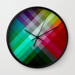 Rainbow 3 color Wall Clock