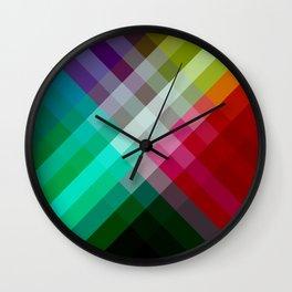 Rainbow 3 color Wall Clock