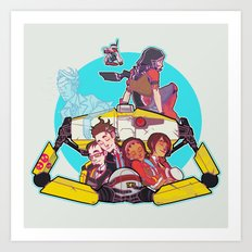 caravan fam Art Print