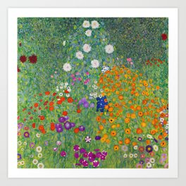 Gustav Klimt Flower Garden Floral Art Nouveau Art Print