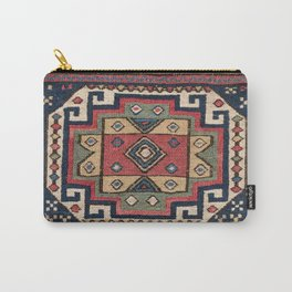Cowboy Sumakh // 19th Century Colorful Red White Blue Western Lone Star Dallas Ornate Accent Pattern Carry-All Pouch