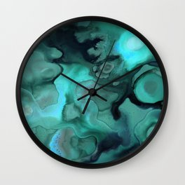 Ebb and Flow - Emerald Wall Clock