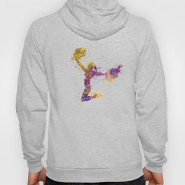 young woman cheerleader 03 Hoody