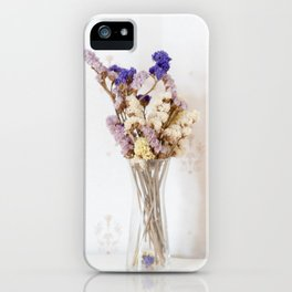 Dried flower in glass vase iPhone Case