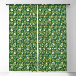 green density full of leaves and flowers Blackout Curtain