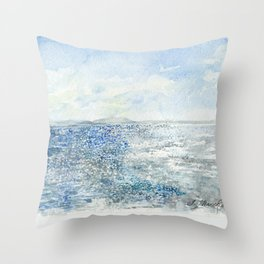 Sparkling Moment In Time Watercolor Painting Throw Pillow