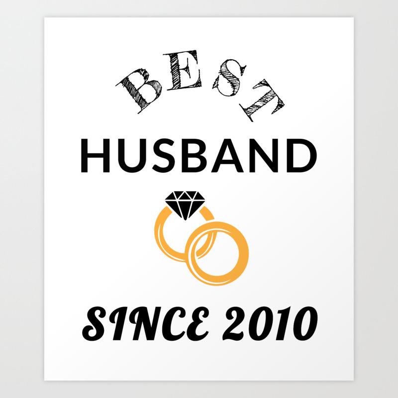 Husband 9th Anniversary Gift Men S Wedding Present Graphic Art Print By Shankthetank Society6