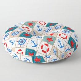 Nautical pattern . 1 Floor Pillow