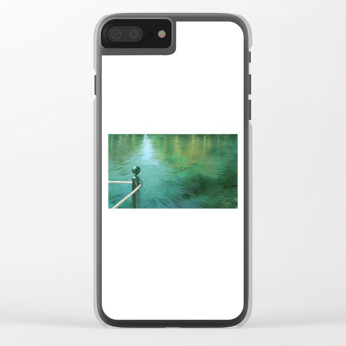 Waterscape digital painting Clear iPhone Case
