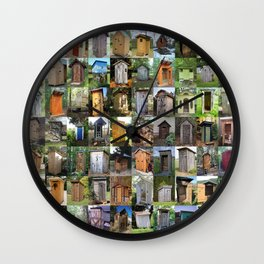 Outhouses Wall Clock