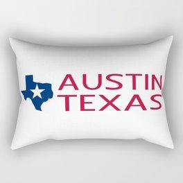 Texas: Austin (State Shape & Star) Rectangular Pillow