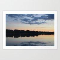 La Loire, Saumur Art Print