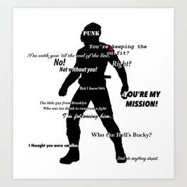 Bucky Barnes Quotes Art Print