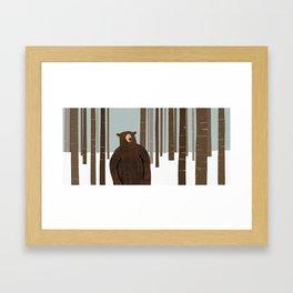 BEAR IN WOODS Framed Art Print