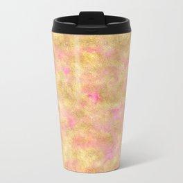 Gold Glitz Pink Watercolor Travel Mug