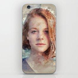 Flame Haired Girl iPhone Skin