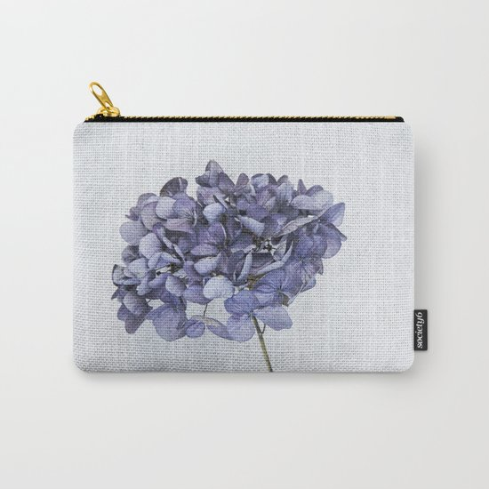 Dried Blue Hydrangea Carry-All Pouch