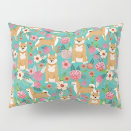 Shiba Inu floral dog breed pet art must have gifts pure bred shiba inus doggo Pillow Sham