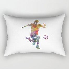 man soccer football player 09 Rectangular Pillow