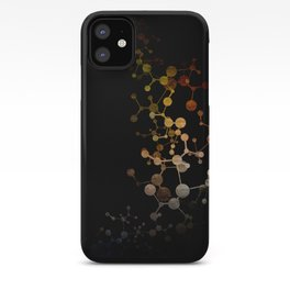 Metallic Molecule iPhone Case