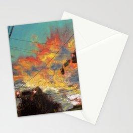 Explosive Sunset Stationery Cards