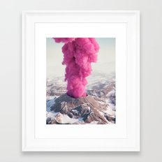 Pink Eruption Framed Art Print