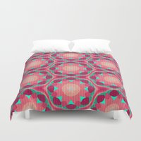 the thing Duvet Covers featuring Sweet Thing by Truly Juel