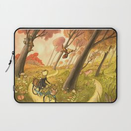 Bike Ride Through The Woods Laptop Sleeve