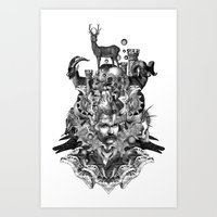 wizard Art Prints featuring Wizard by DIVIDUS