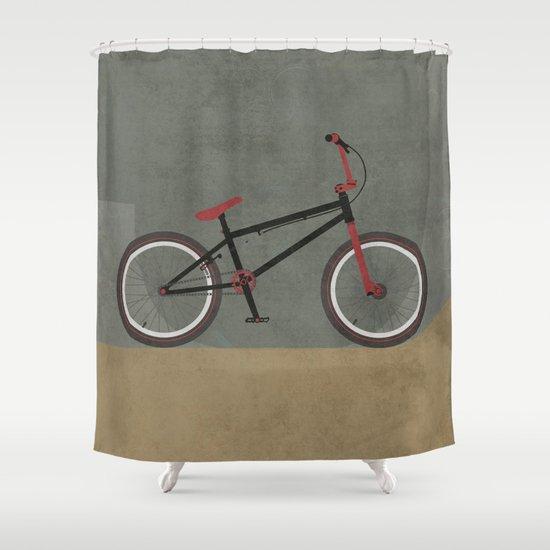 BMX Bike Shower Curtain