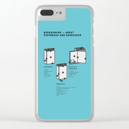 Bookbinding – About Paperback and Hardcover (in English) Clear iPhone Case