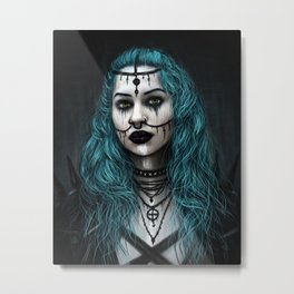 Cold and Haunted Metal Print