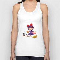 kiki Tank Tops featuring Let's have a Kiki by Ian Chaffardet
