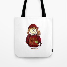 Strawgirl jGibney The MUSEUM Society6 Gifts Tote Bag