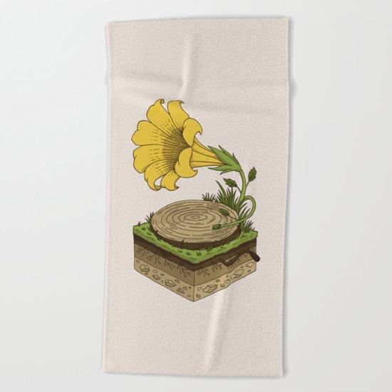 Gramophone Beach Towel