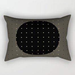 """Grey & Polka dots central circle pattern"" Rectangular Pillow"