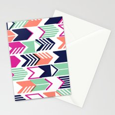 Tribal Arrows (Blue, Pink, Coral & Mint) Stationery Cards