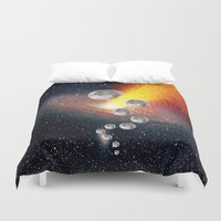 sci fi Duvet Covers featuring Sci-Fi Space Universe by  Agostino Lo Coco