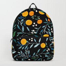 Oranges Black Backpack