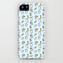 Repeat Rabbit Doodle iPhone Case
