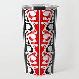 Maori Kowhaiwhai Traditional Pattern Travel Mug