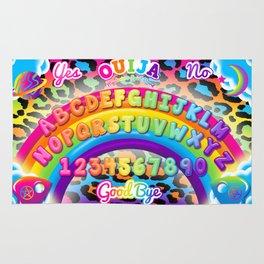 1997 Neon Rainbow Ouija Board Rug