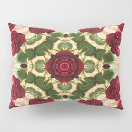 Old Red Rose Kaleidoscope 6 Pillow Sham