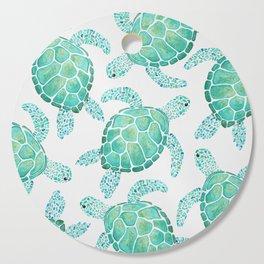 Sea Turtle Pattern - Blue Cutting Board