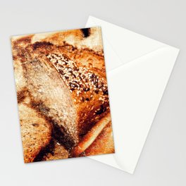 Still Life Of A Sliced Loaf Of Bread And Cracknels Stationery Cards