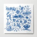 "Zelda ""Hero of Time"" Toile Pattern - Zora's Sapphire by nicksullivan"