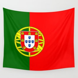 Flag of Portugal Wall Tapestry