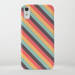 Retro Rainbow Stripes iPhone Case