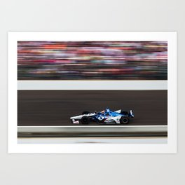 Rahal running in the INDY 500 Art Print