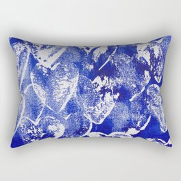 Hearts in blue and white Rectangular Pillow